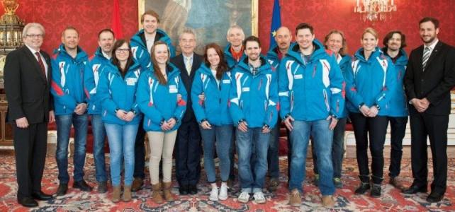 Deaflympics Teilnehmer beim Bundespräsidenten