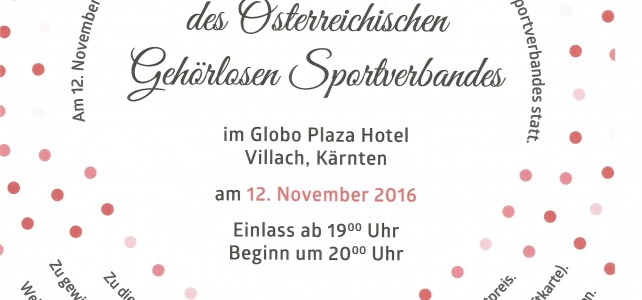 10. Sportlergala am 12. November 2016 in Villach