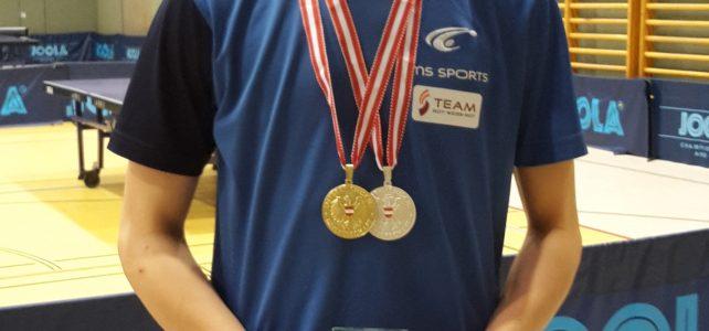 Lukas Krämer gewinnt Gold und Silber bei den ÖM U15