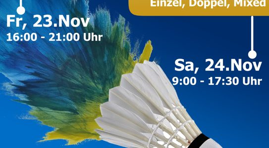 Badminton Meisterschaften in Mödling am 24. November 2018