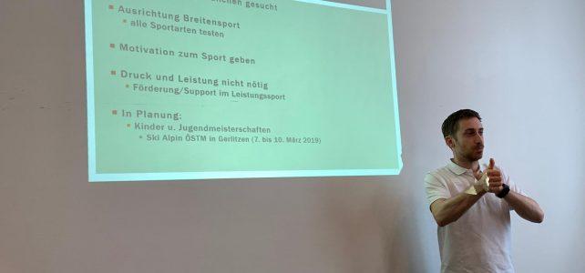 Vortrag über den Jugendsport