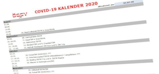 Neue ÖM/ÖSTM Termine nach Covid-19 Sperre