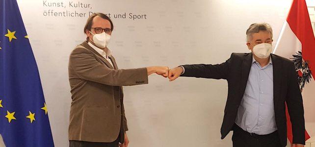 Besuch beim Vizekanzler und Sportminister Kogler